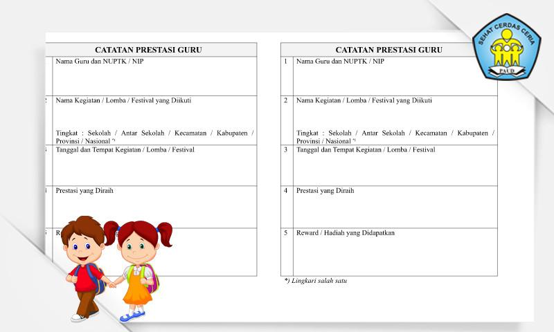 Download Buku Catatan Prestasi Guru PAUD Format Microsoft Word
