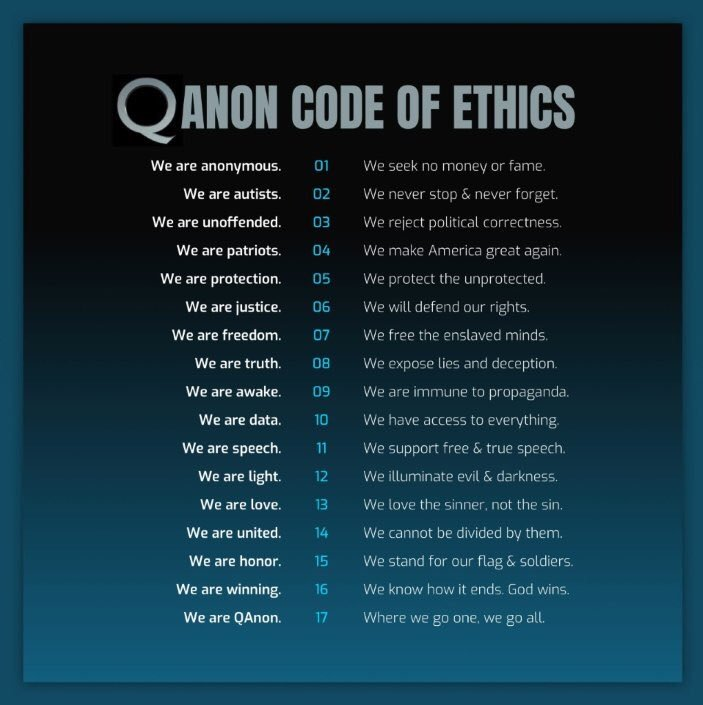 Qanon Code of Ethics