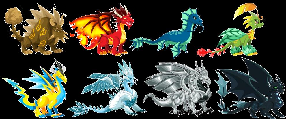 Dragon City Coloring Pages: Fans Dragon City: Dragones Elementales