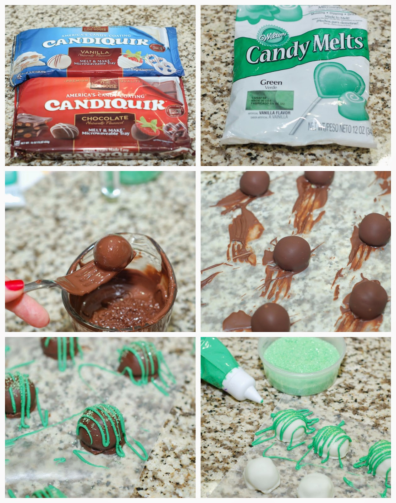 Coating Tequila Lime Truffles by The Sweet Chick