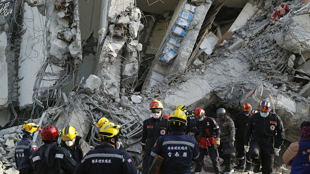 Empty Paint Cans Were Used As Construction Material In A Collapsed Taiwan Building