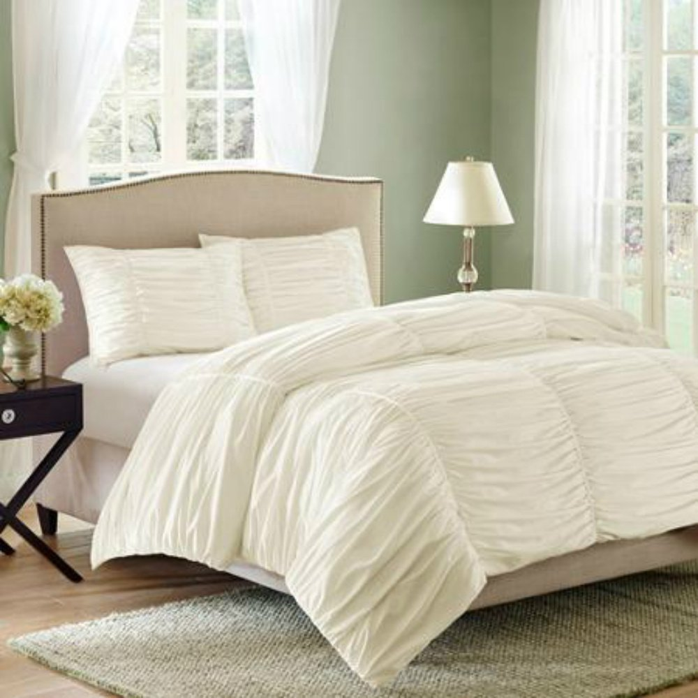 Bedding Decor: Ruched Bedding And Comforter Sets