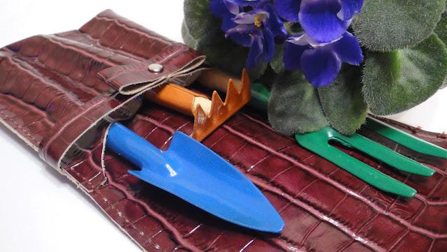 Чехол для инструментов для ухода за комнатными цветами, три секции, подарок свекрови, подарок теще, подарок бабушке