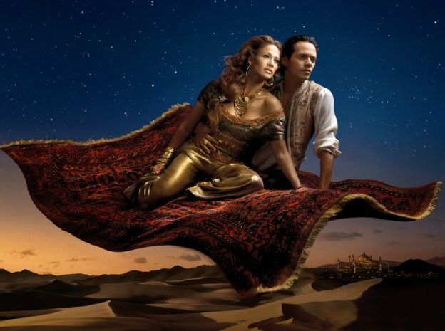 Jennifer Lopez Marc Anthony Aladdin animatedfilmreviews.filminspector.com