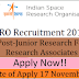 ISRO Recruitment 2017 || JRF & RA || Urgent Openning - 84 post vacancies