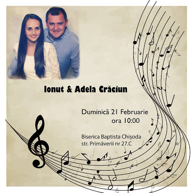 Ionut si Adela Craciun la Biserica Baptista din Chisoda - 21 feb 2016