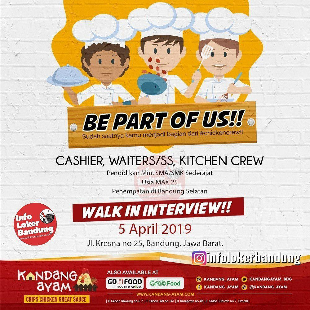 Lowongan Kerja Kandang Ayam ( Walk In Interview) 5 April 2019