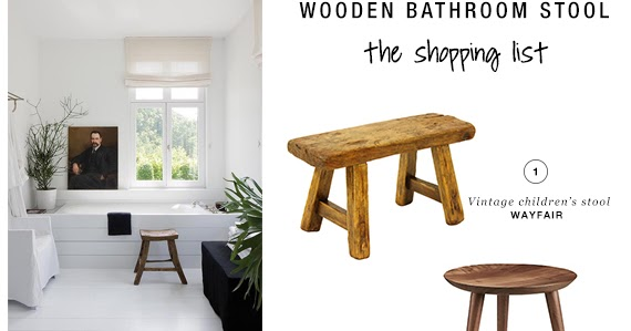 10 BEST: Wooden bathroom stools | My Paradissi