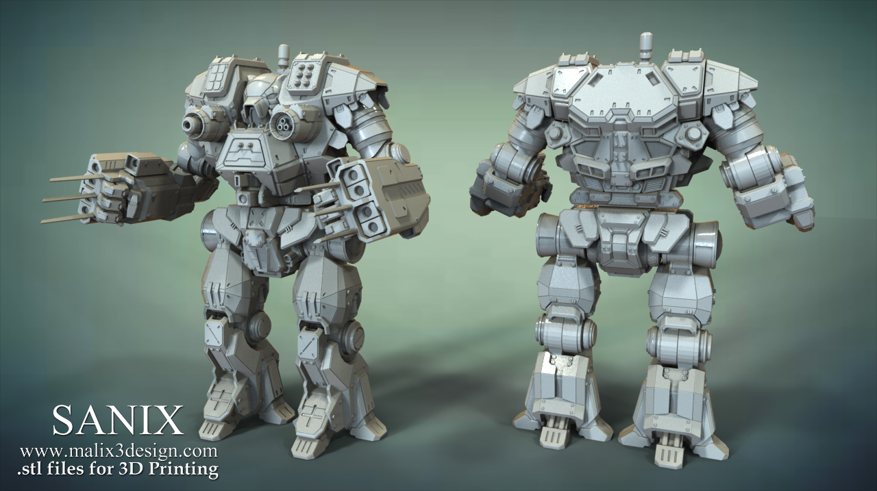Mech Warrior - KODIAK / 3D Printable Assembly Action Figure