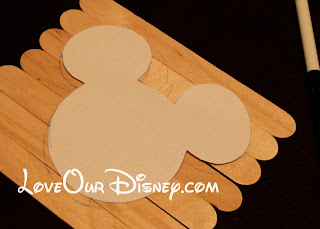 Make your own Disney Popscicle Stick Puzzles. Great toddler activity. LoveOurDisney.com