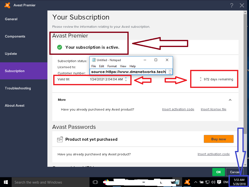 avast anti track license key