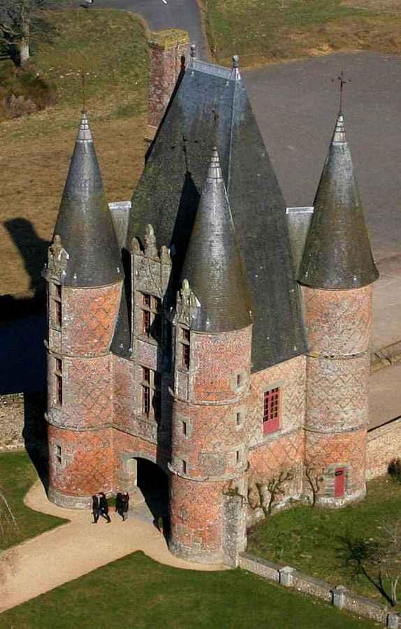 Castelinho de Carrouges, Normandia, França.