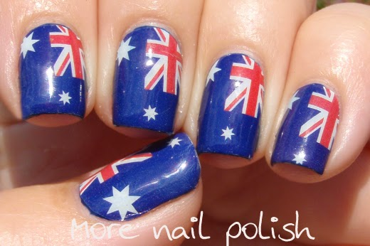 Aussie Nails Australian Flag Nail Art More Nail Polish