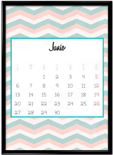 Calendario imprimible junio