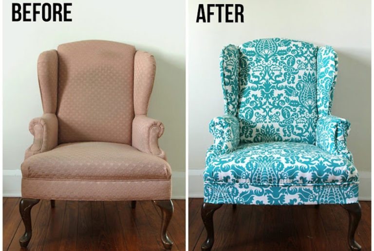 The Best Solution To Renew Furniture With Upholstery Is By Giving It A  Fresh And Brand New Fabric. While The Old Furniture Could Use Plain Pattern  And Pale ...