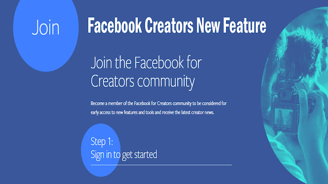 Facebook Creators New Feature