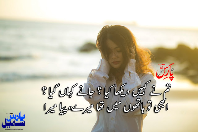 Tum Ne Kahin Dekha Kya? Jaane Kahan Gaya - Sad Two Lines Urdu Poetry by Paaris Sohail