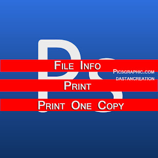 Photoshop file menu notes, photoshop in hindi, photoshop file menu, print, Print Info