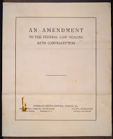 "A title page reading ""An Amendment to the Federal Law Dealing with Contraception."""