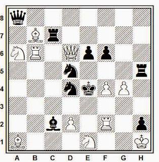Problema de mate en 2 compuesto por J. García Llamas (1ª Mención, British Chess Magazine, 1953)5tr