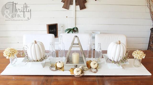 白色秋天装饰想法