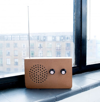 Cardboard FM Radio and Portable Speaker