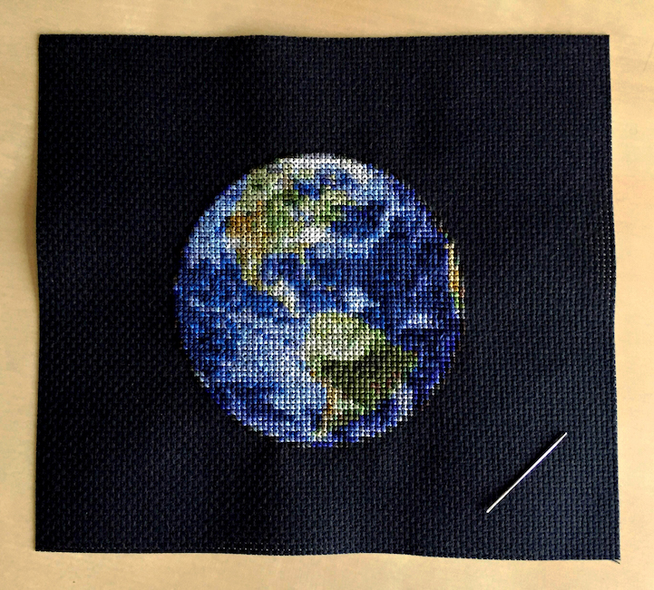 Cross stitch planet patterns by Navid Baraty, featured by Julia on Feeling Stitchy