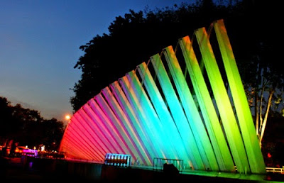 The beauty of the Rainbow Garden Night Surabaya