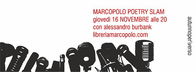 MarcoPolo Poetry Slam - giovedì 16 novembre