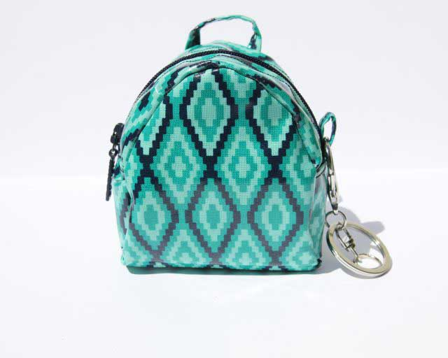 Learn how to make a mini backpack coin purse. Tutorial and free pattern by So Sew Easy