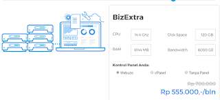Cloud VPS Hosting Niagahoster Paket Bizextra