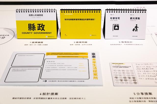 「臺東未來生活提案所」 邀請設計中心參觀者寫下臺東的未來設計提案,一同想像更理想的未來臺東生活。   (圖片來源:台灣創意設計中心)