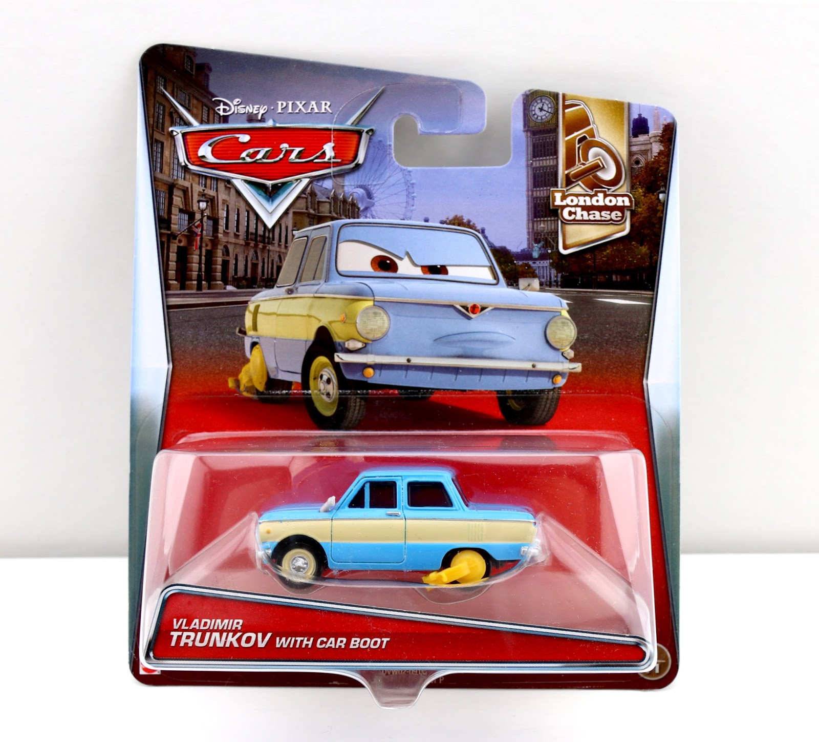 Cars 2 Vladimir Trunkov with car boot mattel