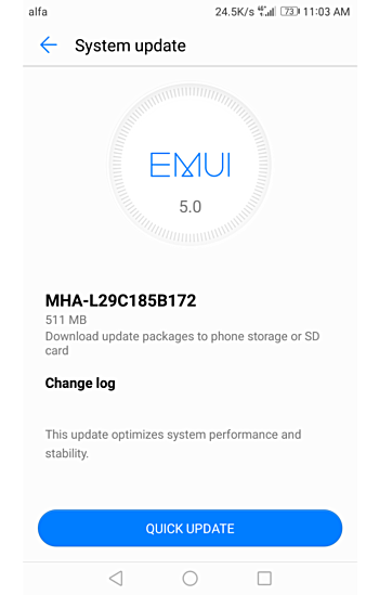 Huawei Mate 9 OTA Update