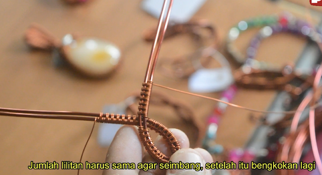 Tutorial Membuat Perhiasan Gelang dari Kawat Tembaga | Wire Jewerly