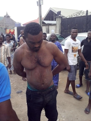 Young man caught in ojota for stealing car