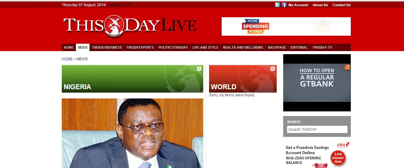 vanguard nigeria online