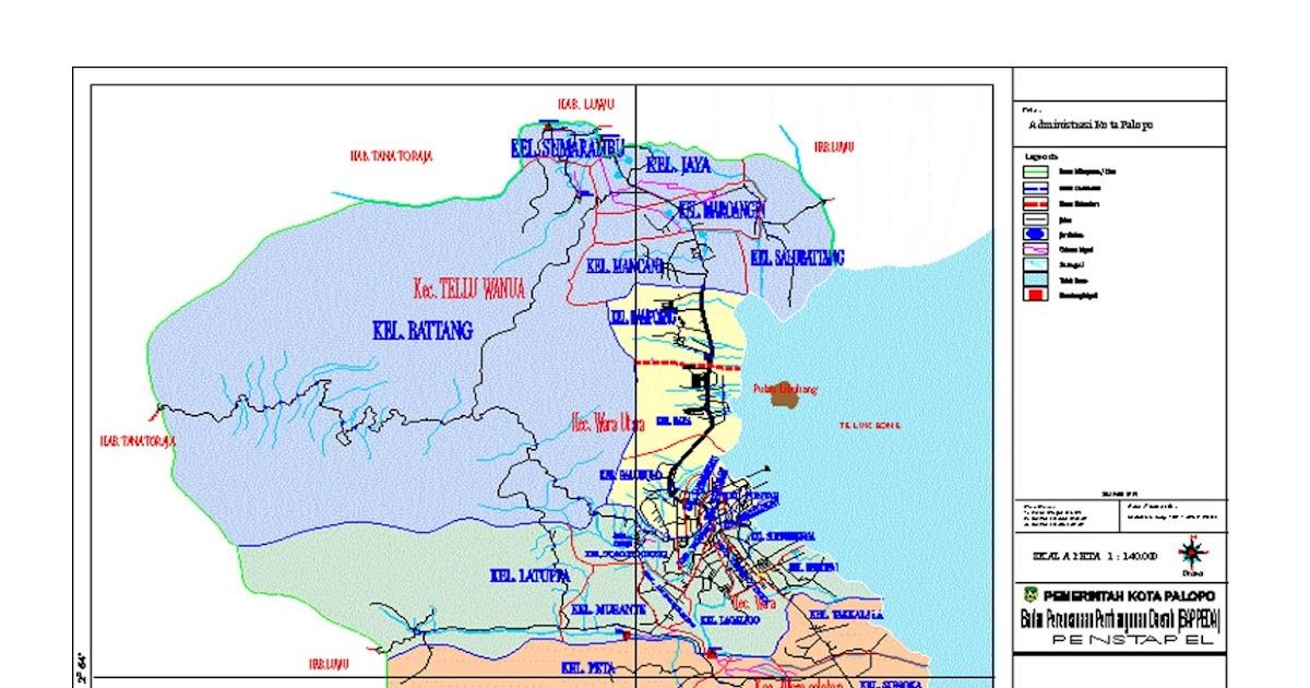Peta Kota Palopo - Malatunrung Berdaya