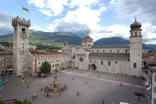 The beautiful Piazza Duomo in Trento