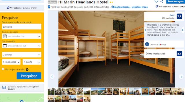 Estadia no HI Marin Headlands Hostel em Sausalito