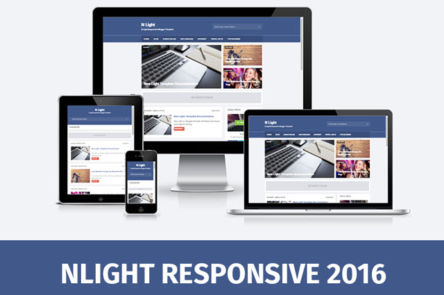 N Light Responsive and SEO Friendly Blogger Templates