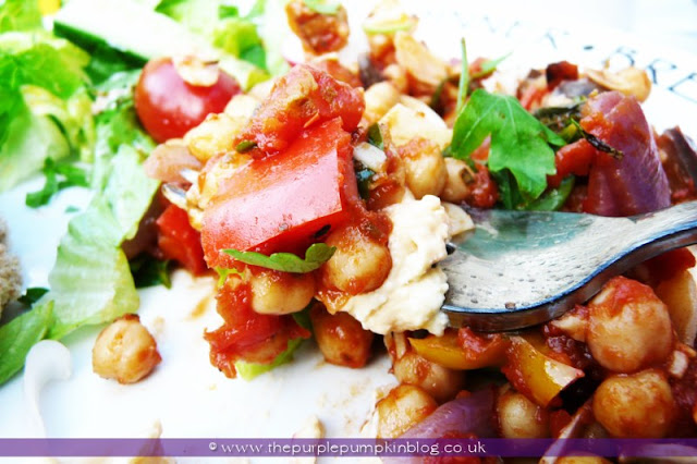 Moroccan Vegetable and Chickpea Tagine at The Purple Pumpkin Blog