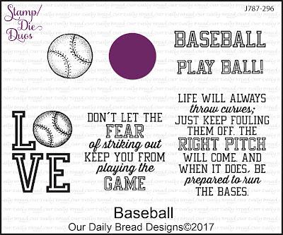 Stamp/Die Duos: Baseball