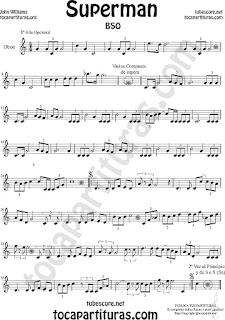 Oboe Partitura de Superman Sheet Music for Oboe Music Score