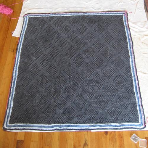 Moss Stitch Diamonds Baby Blanket - Free Pattern
