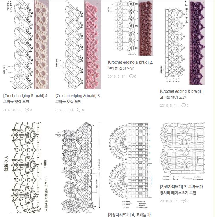 Koronki, bordiury na szydełku - ponad 150 pięknych wzorów