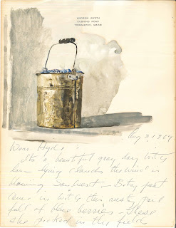 Study of a pail of blueberries by Andrew Wyeth