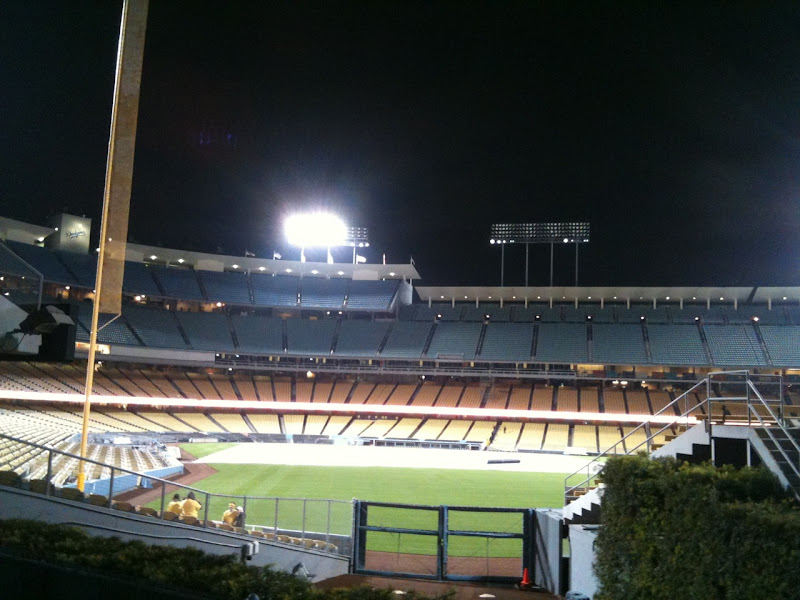 LA Marathon morning Dodger Stadium