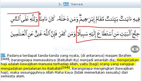 Dalil Naqli Tentang Perintah Haji