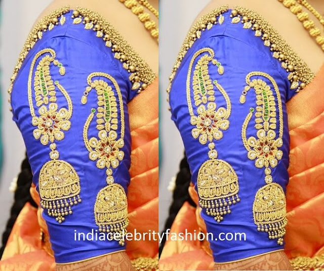 Beautiful Work Blouse For Bridal Saree